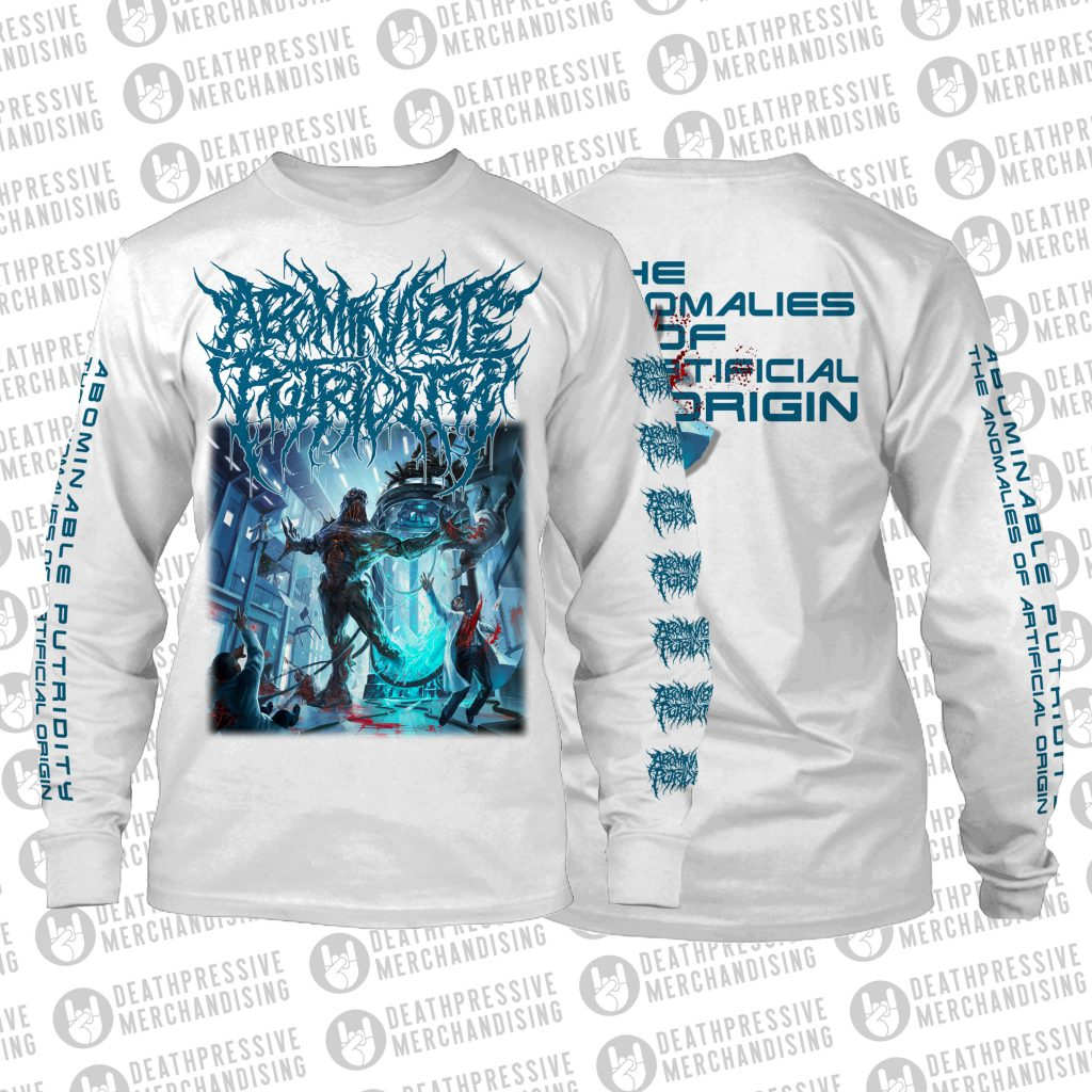 LS ABOMINABLE PUTRIDITY-ART COVER (white)